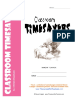 Classroom Time Savers Free Print Able Forms and Worksheets