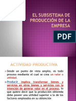El Subsistema de Producción de La Empresa[1]