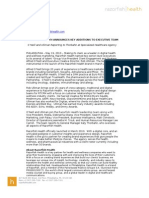 Razorfish Health Leadership Press Release 05 10