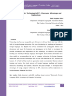 The Use of Computer Technology in EFL Classrooms Advantages Implication Full Paper