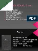 RESENSI NOVEL 5 cm.pptx