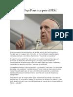 Del Papa Francisco Para El FEM