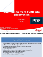 9. Gap Finding From TCRB Site Observation 6 July 2015