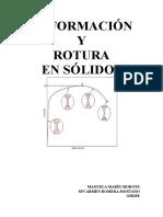 Trabajo Deformación y Rotura en Sólidos