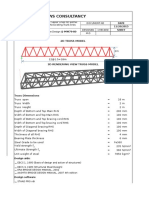 Pipe Carrying Steel Truss Bridge
