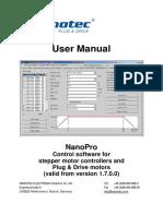 NanoPro User Manual V2.3