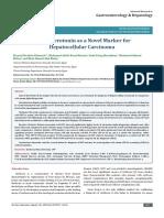 Serum Serotonin as a Novel Marker for Hepatocellular Carcinoma
