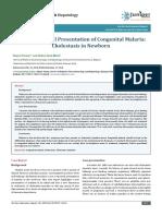 Unusual Clinical Presentation of Congenital Malaria