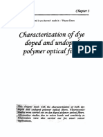 Characterization of dye doped and undopt polymer optical fiber
