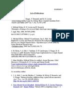 List of Publications