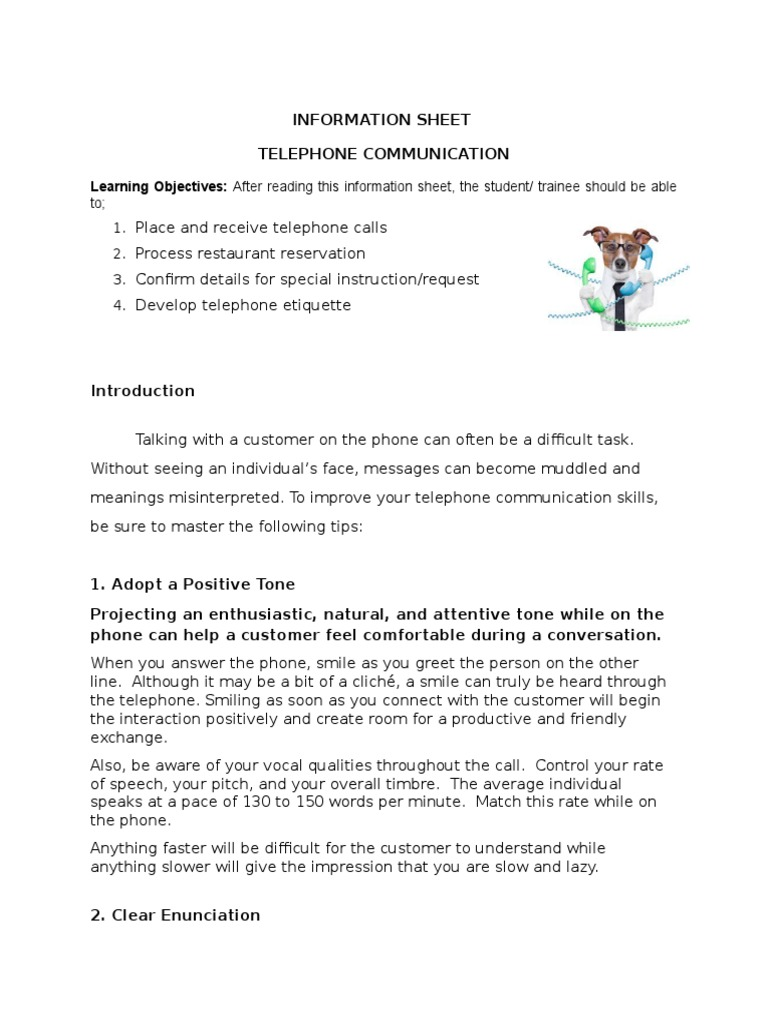 Restaurant Reservation | Telephone | Conversation