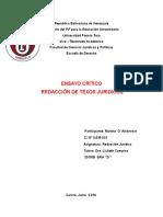Ensayo Crítico-redacción Juridica