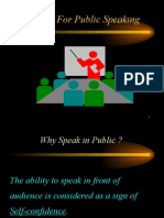 Tips for Public Speaking