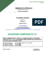 Comunicato n. 78