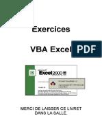 VBA Excel 2000 - Livret d'Exercices