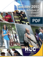 HCC Summer Credit Schedule