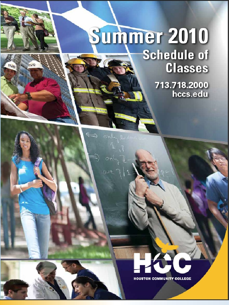 HCC Summer Credit Schedule | University And College Admission ...