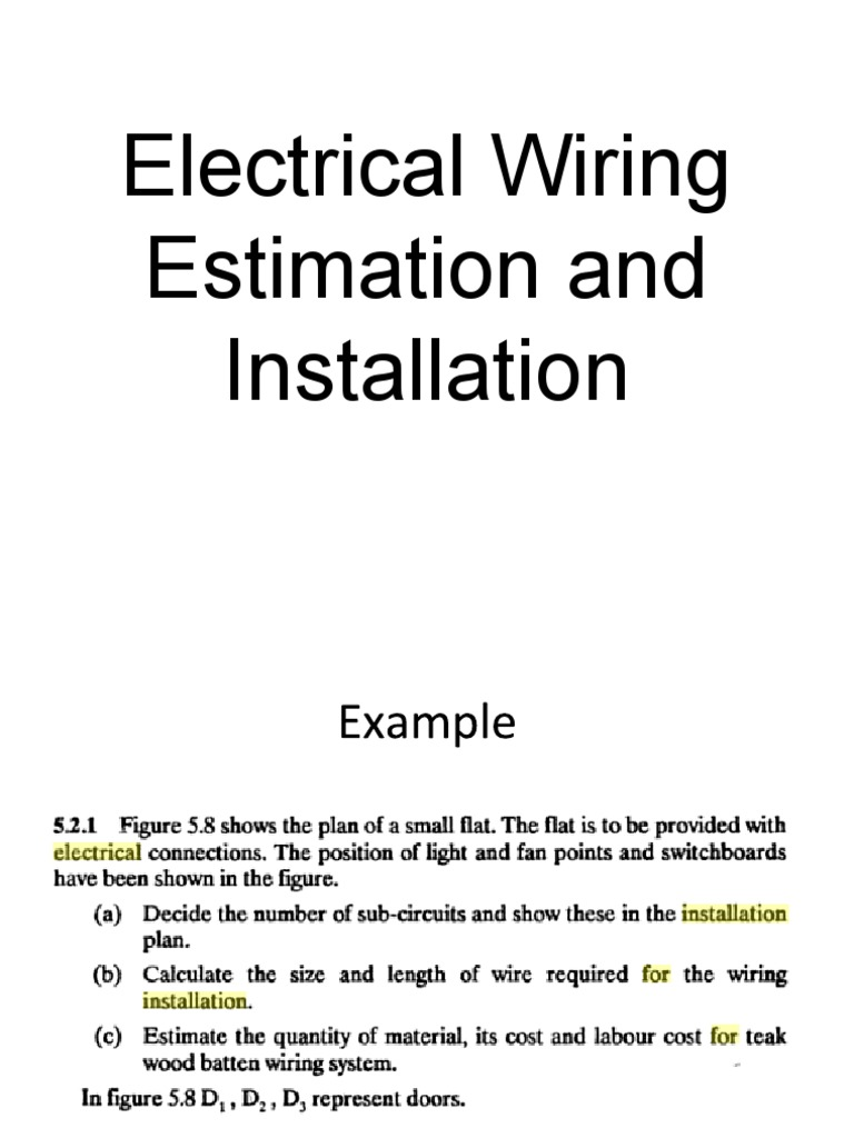 Lecture on Electrical Wiring Estimation and Installation | Nuclear ...