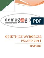 Raport Obietnice Wyborcze PO PSL 20113