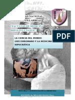 Medicina Grecoromana e Hioocratica