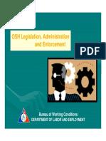 OSHS Legislations