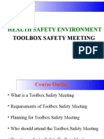 11. TOOLBOX Safety Meeting