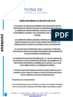 Rueda de Prensa 19 Mayo