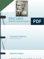 Epicuro Historia y filosofia