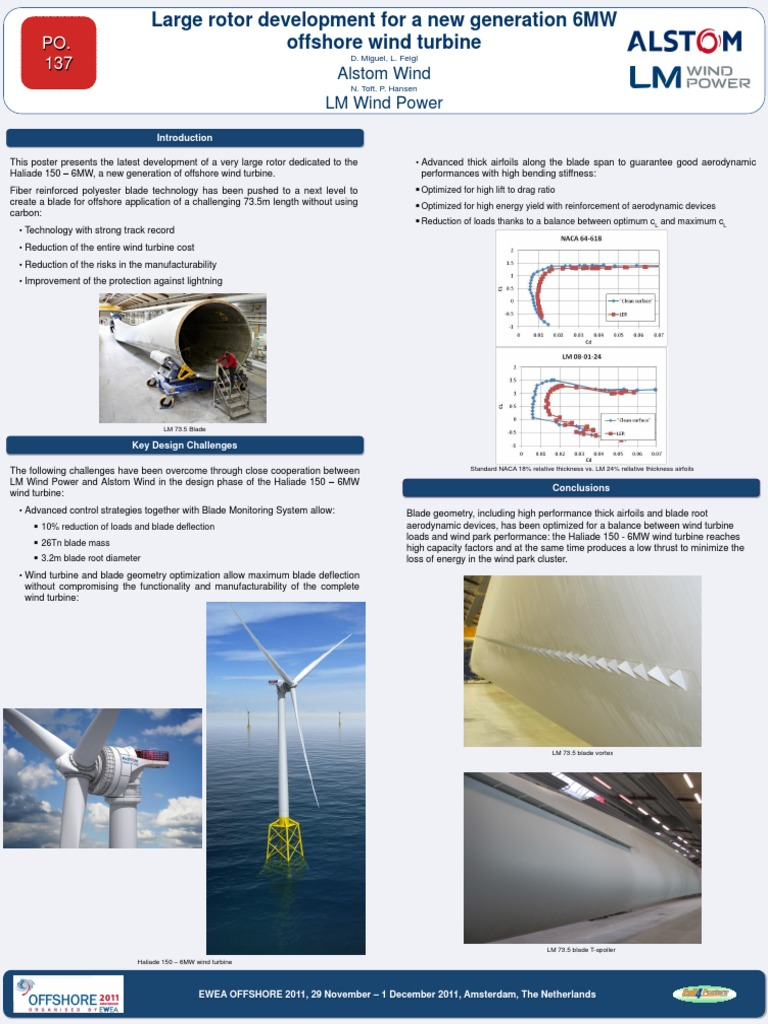 Large Rotor Development for a New Generation 6MW Offshore