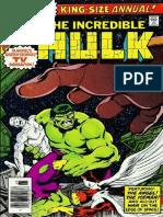 The Incredible Hulk Annual 7 Vol 1