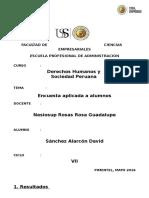 test aplicada a los alumnos de una I.E. de Lambayeque