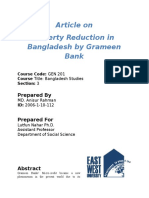 Poverty Reduction in Bangladesh by Grameen Bank
