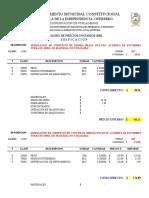 Precios Unitarios 2001