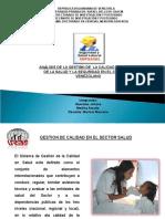 Analisis de La Gestion de Calidad en El Sector Salud y Segurida Laboral en Venezuela
