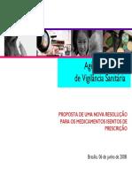 PROPOSTA DE UMA NOVA RESOLUÇÃO PARA OS MEDICAMENTOS ISENTOS DE PRESCRIÇÃO