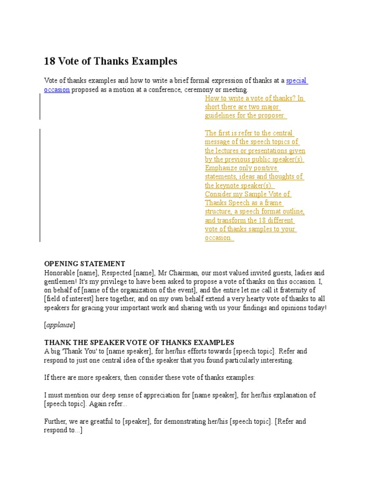 18 vote of thanks examples gratitude journalism thecheapjerseys Image collections