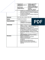 Programa de Elaboración de Plan de Emergencias