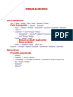 sintaxa propozitiei