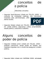 Alguns Conceitos de Poder de Polícia