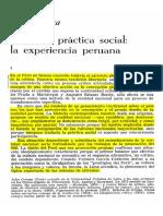Critica y práctica social. La experiencia peruana