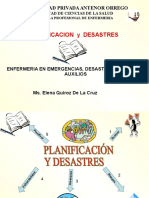 planificacion y desastres