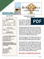 church bulletin 6-19-2016