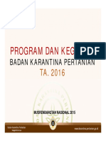 Presentasi Program Keg Barantan 2016