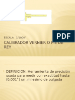 Calibrador Vernier o Pie de Rey Siistema Ingles 0,001