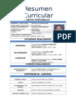 Curriculum Pedro Rafael Paez Colina