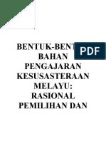 Bentuk-bentuk Bahan Pengajaran Kesusasteraan Melayu(1)