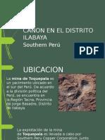 Canon en El Distrito Ilabaya