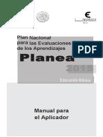 Manual Aplicador de PLANEA Basica 2015