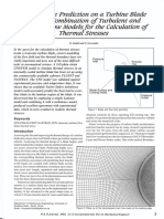 Temperature prediction on a Turbine Blade using a combination of turbulent and laminar flow models