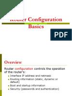 Router Basic configuration